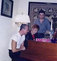 Con Amparo Rubín y Erick Rubín
