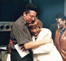 Con Celia Cruz