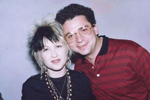 Con Cindy Lauper