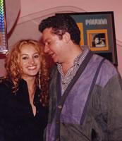 Con Paulina Rubio