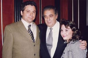 Con Plácido Domingo