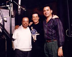 Con Sergio Méndez y Emmanuel