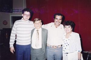 Con Vicente Fernández y Fernando Z. Maldonado